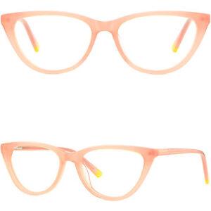 Acetat Damen Brille Cateye Brillengestell Fassung Schmetterling Federbügel Rosa jG6TPOrA81