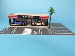 Parking-lot-Model-1-64-Scale-ADVAN-4S-Shop-Building-Model-w-10-Parking-Space