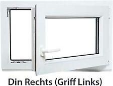 DIN Links Kellerfenster // wei/ß Kunststoff Mahagoni Holzoptik BxH: 90 x 40 cm Braun Fenster