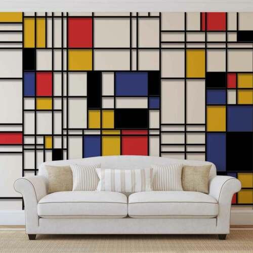 WALL MURAL PHOTO WALLPAPER XXL Mondrian Modern Art (3039WS)