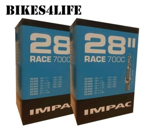 IMPAC (SCHWALBE) CYCLE INNERTUBE  RACE 28 X 1.00 / 40mm PRESTA QUANTITY OPTION