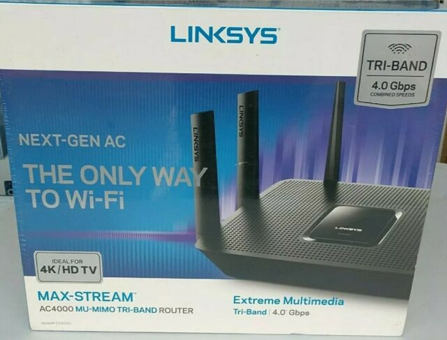 Linksys Max-Stream AC4000 Tri-Band WiFi Router (EA9300)