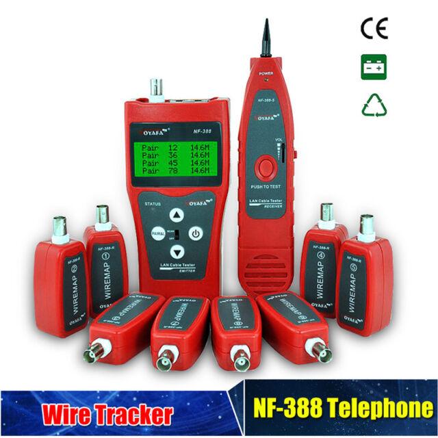Multi-functional NF-388 Network Cable Tester Tracker Tracer Test Ethernet DC9.0V