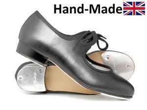 Girls-Ladies-Black-PU-Low-Heel-Tap-Dance-Shoes-All-Sizes-By-Katz-Dancewear