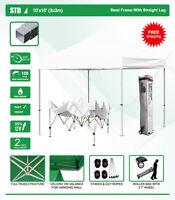 Eurmax Canopy 10' X 10' Std Ez Pop Up Patio Canopy Tent Gazebo With Roller Bag