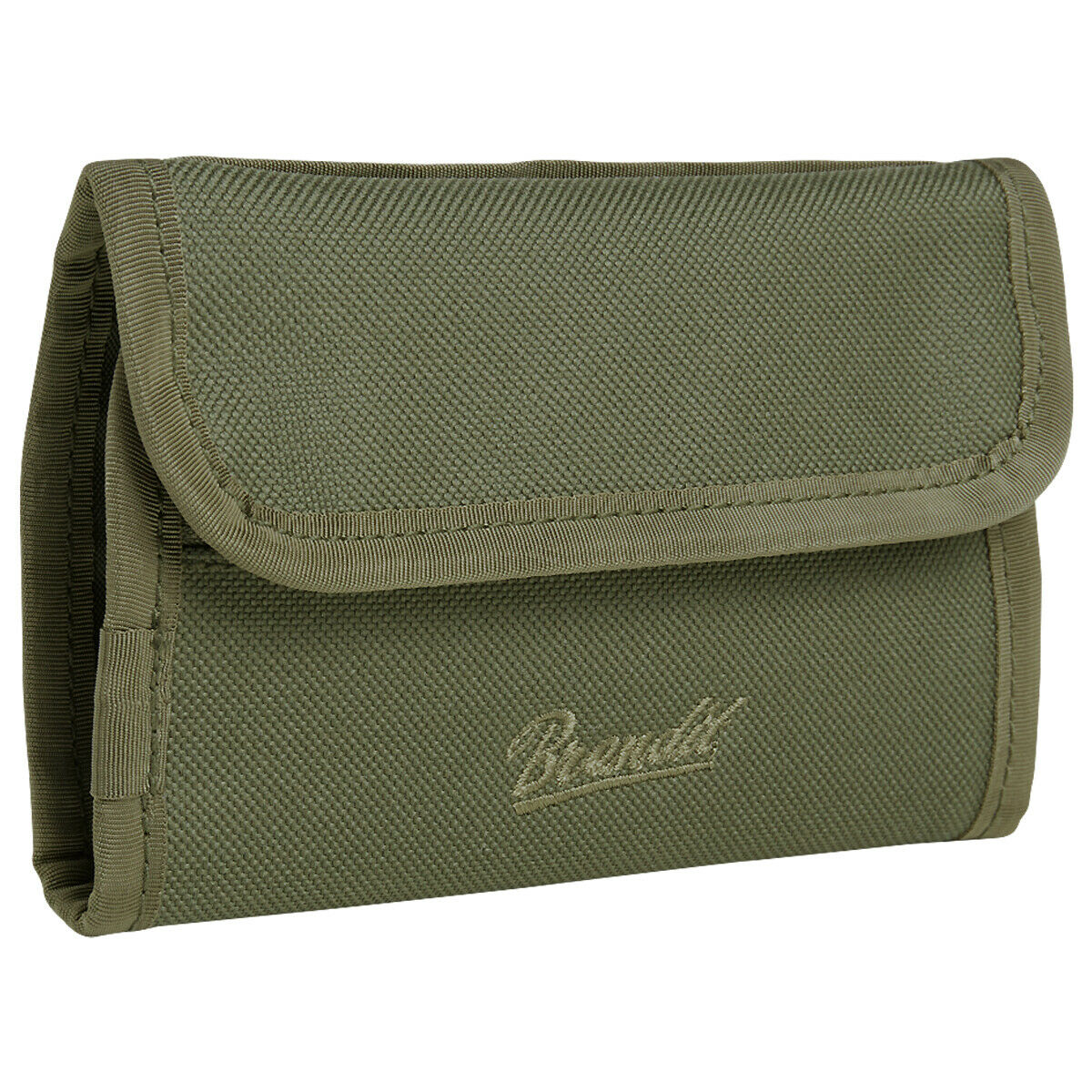 Brandit Wallet Two Zipped Coin Compartment Card Slots Foldable Travel Olive