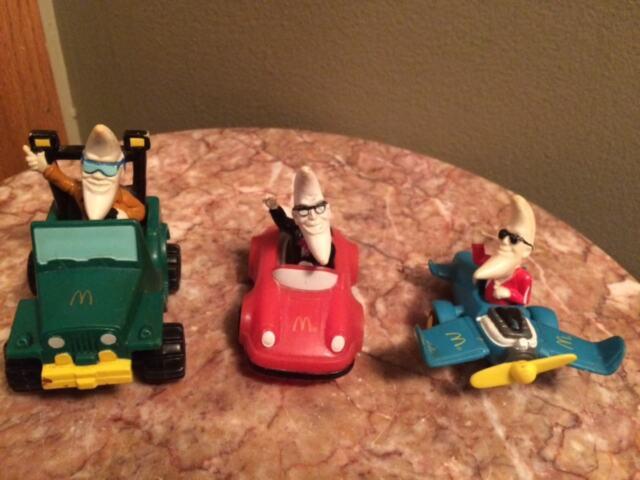 Set 3 McDonalds Mac Tonight Moon Man Happy Meal Lot 1988 Figures jeep car toys