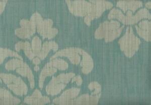 Wallpaper-Designer-Mallory-Taupe-Aqua-Ikat-Medallion-Damask