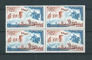 FRANCE-1966-YT-1486-bloc-de-4-TIMBRES-NEUFS-LUXE