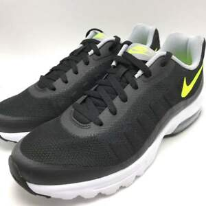 Nike Air Max Invigor Men s Running Shoes Black Volt-Wolf Grey-White ... 099ece361