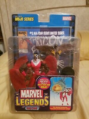 Marvel Legends Mojo Series Falcon Rare Chase Variant Red Toy Biz New Free Ship