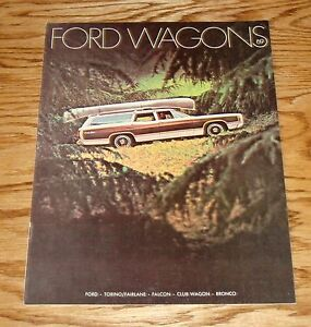 1969 ford wagons sales brochure 69 fairlane falcon bronco
