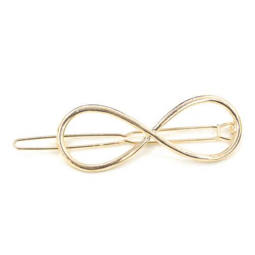 Frauen Haarspange Positive Unendlichkeit Gold Haarspange Haarnadeln Stirn TC