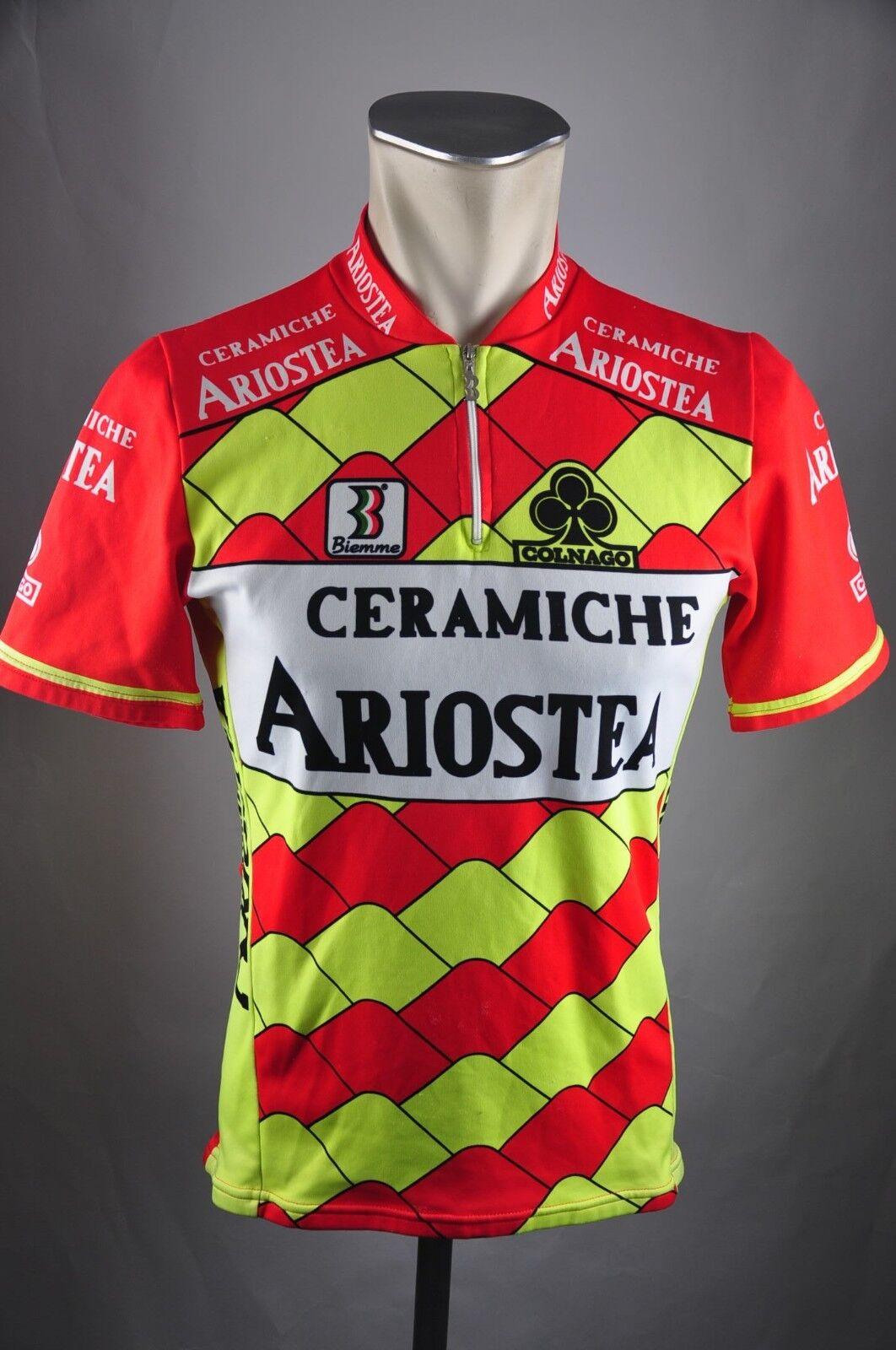 Ceramiche Ariostea Biemme Rad Trikot Gr. S BW 49cm Bike cycling jersey Shirt FZ1