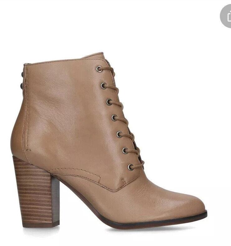 DSS Aldo damen Ibauvia Tan Leather Lace Up Heeled Ankle Stiefel Größe UK 4 EU 37