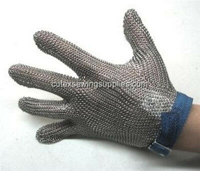 Stainless Steel Metal Mesh Safety Glove - 5 finger Reversible - Left or Right