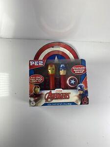 PEZ-Marvel-Avengers-Captain-America-Iron-Man-Set-NEW-Free-Shipping