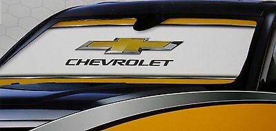 chevy chevrolet sunshade car sun shade protector truck logo dash uv block window