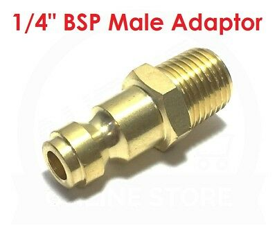 "Hydraulics, Pneumatics, Pumps & Plumbing Quality 1/4"" Bspt Male Brass Adaptor 19.0871 Jamec Pem Airline Fitting Coupling At Any Cost Business & Industrial"