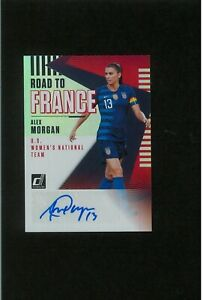 Alex Morgan Autograph ROAD TO FRANCE Soccer Women Auto World Cup Gold Olympics