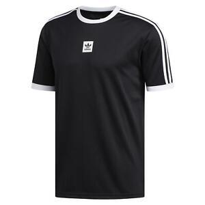 adidas ORIGINALS SKATEBOARDING CLUB JERSEY T-SHIRT TEE BLACK WHITE ...