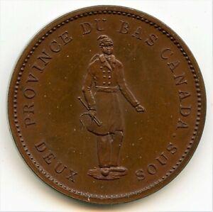 Breton 521, 1837 Quebec Bank, One Penny Token CH LC-9B1, Courteau 12b PCGS Proof
