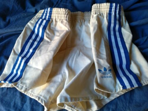Vintage 1970s Adidas Swim Trunks Men's M White Cot