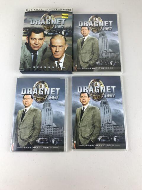 💥Dragnet 67 - Season 1 (DVD, 2005, 2-Disc Set  Missing Bonus Disc.