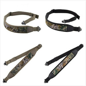 Rifle Gun Sling with Mil-Spec Swivels Durable Shoulder Padded Strap Adjustable