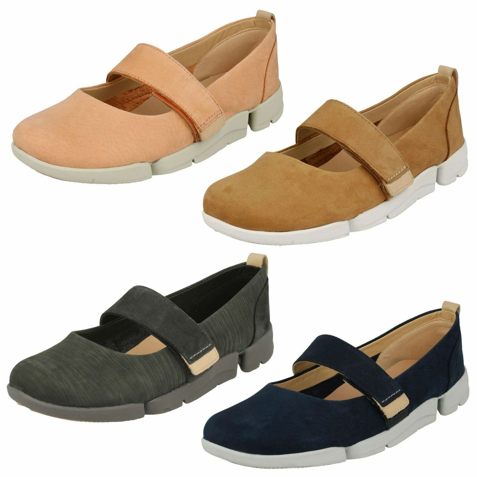 LADIES CLARKS Casual Flat chaussures 'tri Carrie'