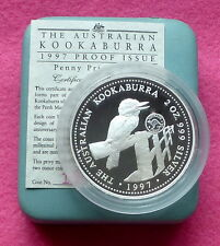 1997  KOOKABURRA 2oz PENNY PRIVY MARK  SILVER PROOF $2 COIN BOX AND COA