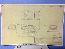 AFX 55 Chevy Bel-Air Gasser,57 Nomad reproduction blueprints