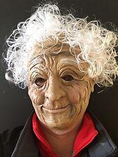 Anziana donna nonna Maschera Capelli Bianchi LADY Suora Halloween Fancy Dress Maschere