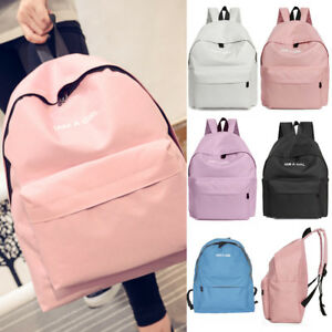Women Girl s Canvas Shoulder School Bag Backpack Travel Satchel ... aabedbdd5bc84
