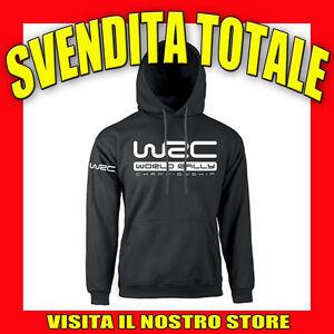 FELPA-CAPPUCCIO-WRC-RALLY-TIR-TOP-IDEA-REGALO-AUTO-TUNING-MOTO-NERA-UOMO-DONNA