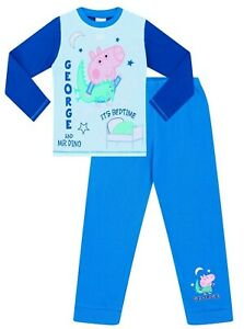 2b55998994f73 Details about Mr Dino Peppa Pig Pyjamas George Pig Pj Cotton George Pjs