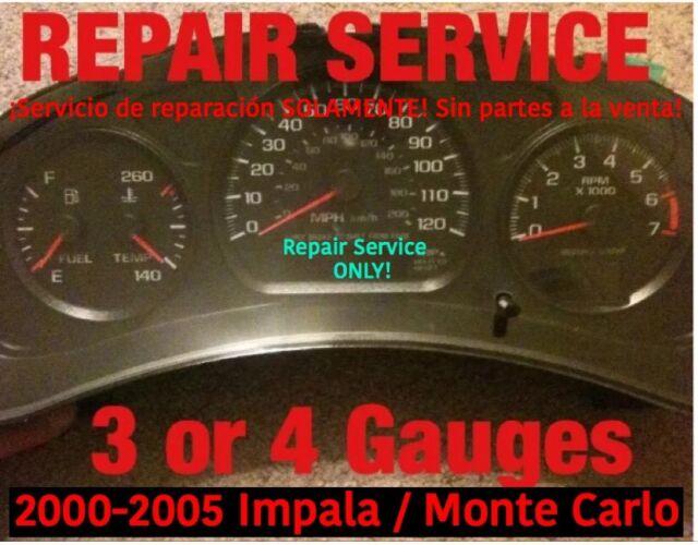 2005 impala instrument cluster repair