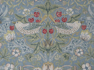 Image Is Loading WILLIAM MORRIS CURTAIN FABRIC 034 Strawberry Thief