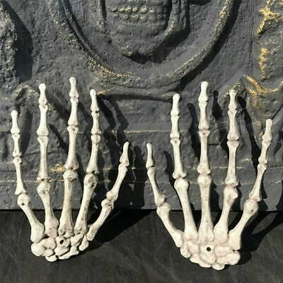 Halloween Skull Skeleton Human Hand Bone Zombie Terror Diy Props Party Decor Us Ebay