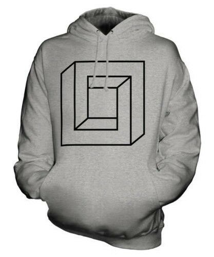 IMPOSSIBLE SQUARE UNISEX HOODIE TOP GIFT SYMBOL PAGAN