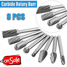 "8pcs Tungsten Carbide Burr 1//4/"" Shank Rotary Cutter Files Set CNC Engraving US"