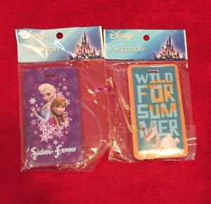 8bd431a9a2f4 Details about Disney Frozen Elsa Anna Olaf Luggage Suitcase Backpack Bag  Name Tag Set of 2