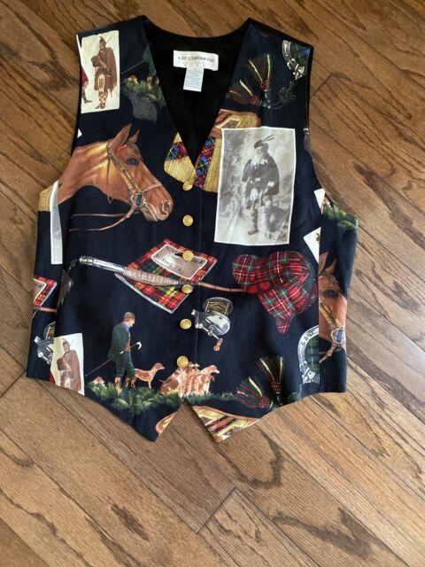Liz Claiborne Collection Sz 12 Womens Vintage Western Horse Farm Vest Rn 52002