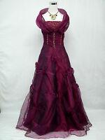 Cherlone Plus Size Purple Long Ballgown Wedding/Evening Bridesmaid Dress 26-28