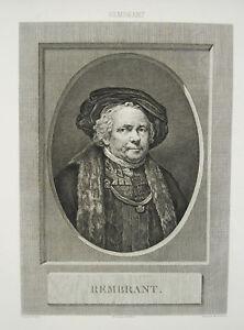 Rembrandt-van-Rijn-auto-portrait-Heinrich-GUTTENBERG-Joseph-WICAR-gravure-c1800