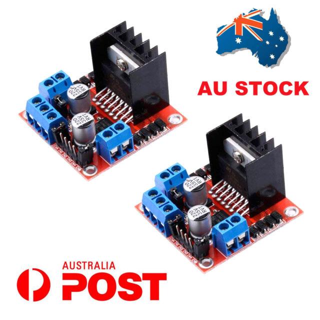 AU 2X L298N Motor Drive Controller Board Module Dual H Bridge DC Stepper Arduino