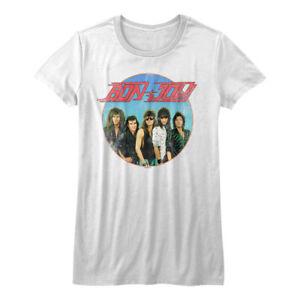 Bon-Jovi-Vintage-Band-Photo-Women-039-s-T-Shirt-Rock-Band-Top-Concert-Tour-Merch