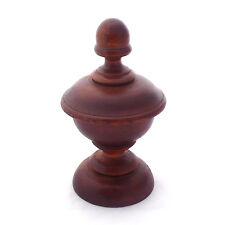 Antique Primitive Turned Woodenware Treenware Saffron Salt Spice Box ~ AAFA