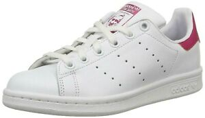 ADIDAS stan Smith 3 red bianca in pelle allacciata b 32703