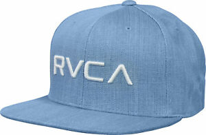623efc21f Details about RVCA Mens VA Sport Twill Snapback II Hat - Denim Blue
